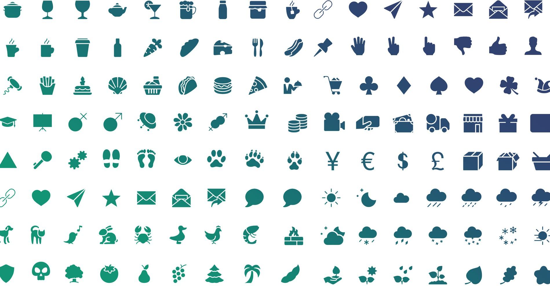 Una libreria di 3000 icone
